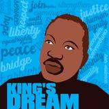 Dream国王的为马丁・路德・金天 库存例证