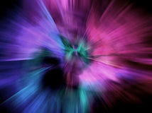 Dream. Colors in a dreamlike explosion with a figure at the center Stock Photography
