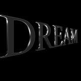 Dream. Keyword on black background Stock Image