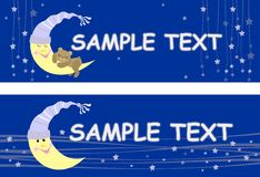 Dream. Night sky, the moon and the Bear vector illustration