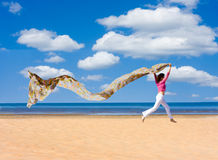 In a dream. Run the beach Stock Photos
