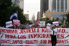 Dream Act Immigration Rally in Austin Texas 2009 royalty free stock photography