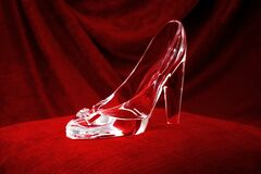 Free Dream And Fantasy, Classic Literature And Magical Fairy Tale Story Conceptual Idea With Clear Crystal Glass Slipper Or Shoe That Stock Image - 186242271