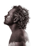 Dream, Anger, Dreaming, man covered in mud, naked, in profile, d Stock Photo