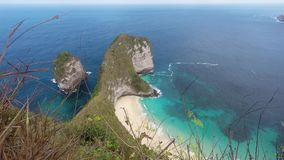 Dream Bali Manta Point Diving place at Nusa Penida island stock video footage