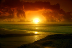 Dream Beach. Sunset in a beach at Areia Branca royalty free stock images