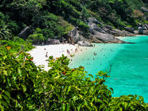 Dream Beach. Amazing beach with white sand, crystal clean water and tropical vegetation. Similan Islands, Thailand Royalty Free Stock Photo