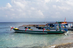 Dream beach with boat, Bali Indonesia, Nusa Penida island Stock Photography