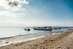 Dream beach with boat, Bali Indonesia, Nusa Penida island Stock Images