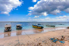 Dream beach with boat Bali Indonesia Stock Image