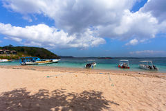 Dream beach with boat Bali Indonesia Royalty Free Stock Image