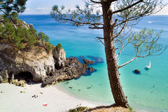 Dream beach in brittany Stock Image