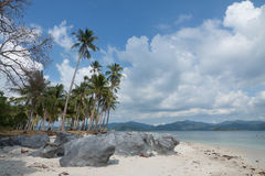 Dream Beach el Nido boattrip, Philippines. Dream beaches with rocks and perfect sky, philippines Stock Photos