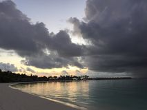 Dream Beach - Maldives just after sunset Royalty Free Stock Image