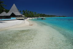 Dream beach. Moorea, French Polynesia Royalty Free Stock Photos