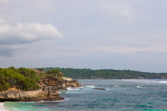 Dream beach, Nusa Lembongan island, Indonesia Royalty Free Stock Photos