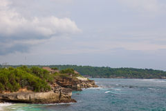 Dream beach, Nusa Lembongan island, Indonesia Royalty Free Stock Photography