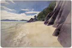 Dream Beach Paper Background Royalty Free Stock Photography