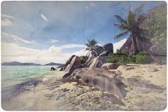 Dream Beach Paper Background Stock Photo