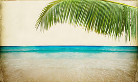 Dream Beach Paper Background Stock Photography