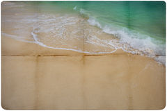 Dream Beach Paper Background Stock Photo