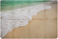 Dream Beach Paper Background Stock Image