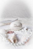 Dream on the beach with pearls Royalty Free Stock Photo