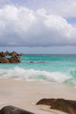 Dream beach on the Seychelles Stock Photos