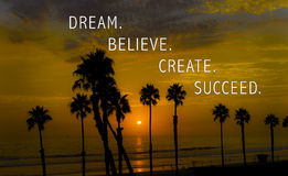 Dream. Believe. Create. Succeed. Royalty Free Stock Image