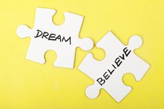 Dream or believe stock photos
