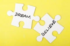 Dream or believe Stock Photos
