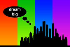 Dream big. Thinking and dreaming big in the modern world Royalty Free Stock Photos