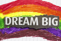 Dream Big. Abstract with newspaper cut out in a child artwork backgtound stock illustration