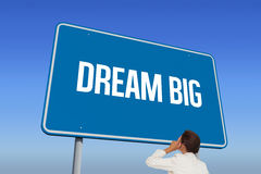 Dream big against bright blue sky Royalty Free Stock Images