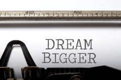 Dream big stock image