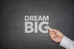 Dream big on blackboard Royalty Free Stock Photos