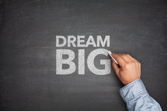 Dream big on blackboard Royalty Free Stock Photo