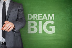 Dream big on blackboard Royalty Free Stock Images