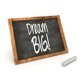 Dream Big Concept Blackboard. A Colourful 3d Rendered Blackboard showing the Inspirational Message Dream Big Royalty Free Stock Photo