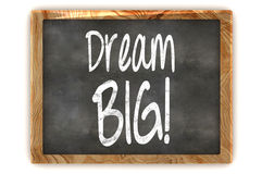 Dream Big Concept Blackboard. A Colourful 3d Rendered Blackboard showing the Inspirational Message Dream Big Stock Image