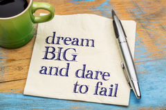 Dream big and dare to fail Stock Photography