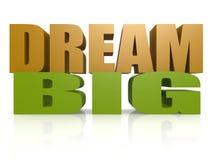 Dream big. Image with white background royalty free illustration