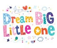 Dream big little one. Nursery art vector illustration