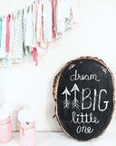 Dream Big Little One. Quotes for baby Royalty Free Stock Image
