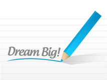 Dream big message illustration design Royalty Free Stock Photo