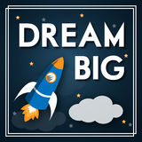 Dream Big Modern Motivation Poster Stock Photography
