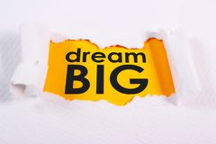 Dream Big, Motivational Business Words Quotes Concept. Dream Big, Motivational Business Inspirational Words Quotes Concept words lettering typography concept royalty free stock photo