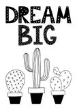 Dream big poster for a nursery Stock Images