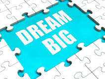 Dream Big Puzzle Shows Hope Desire Royalty Free Stock Photography