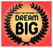 Dream BIG Qoute royalty free illustration